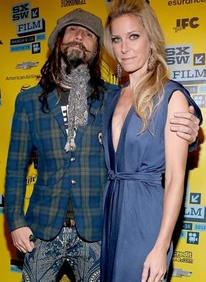 Sheri Moon Zombie with her husband