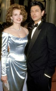 She with her second ex-husband, Jeff Goldblum.