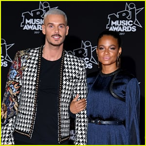 Christina with her partner, M Pokora in an event.