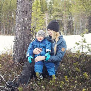 She with her nephew, Noah Jinton.
