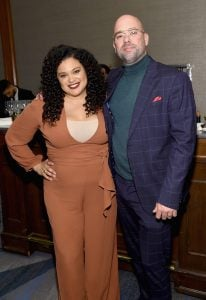 Michelle Buteau with her husband, Gijs van der Most.