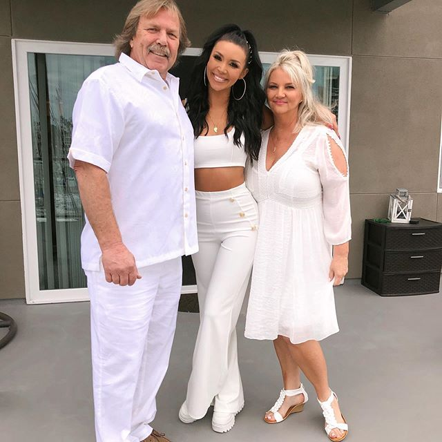 Scheana Shay With Her Parents on her father 's 60th birthday
