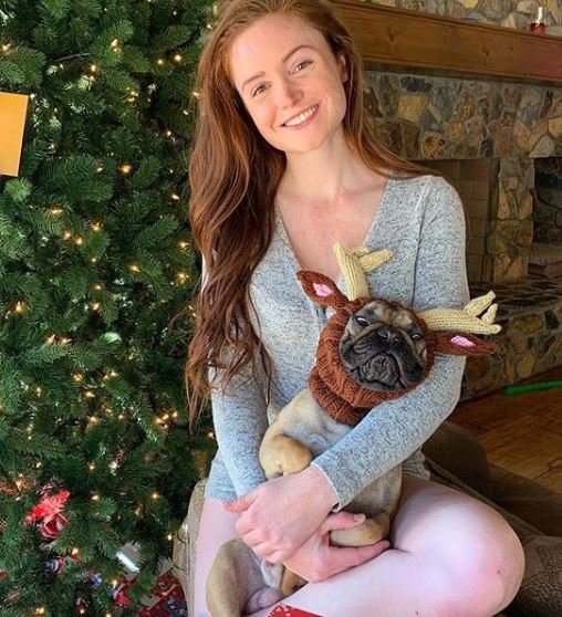 Abby Pollock with her pet