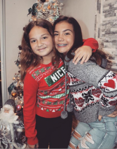 Alisson and Emily took a picture during Christmas