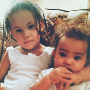 Bahia and her sister took a picture during their early years