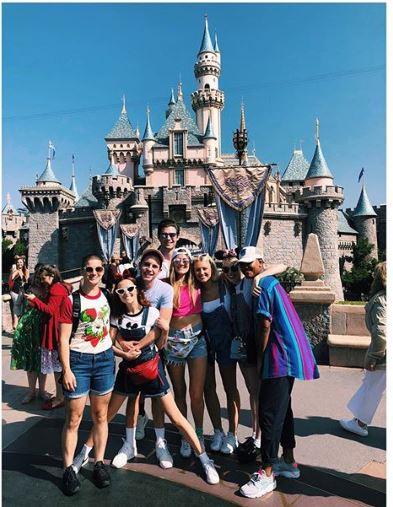 Zoey Deutch with her friends