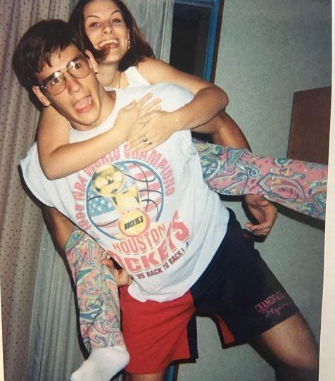 John Behlmann with his sister