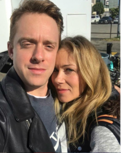 Max took a picture with his co-star of dead to me Christina Applegate