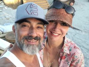 Selim took a picture with his wife Bihter Bayraktar
