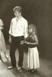 Baryshnikov with her father, Mikhail Baryshnikov.
