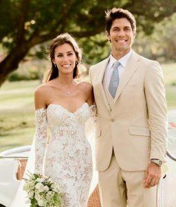 Boyer with her husband, Fernando Verdasco in the wedding ceremony.