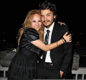 Juno with rumored boyfriend, Emile Hirsch.