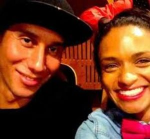 Kandyse McClure with her husband, Ian Cylenz Lee.