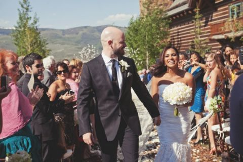 Monica Raymund and her ex-husband's wedding picture