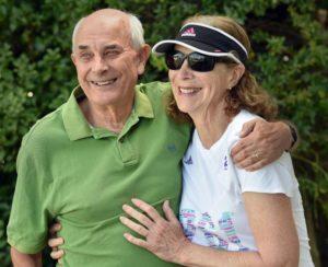 Kathrine Switzer with her husband