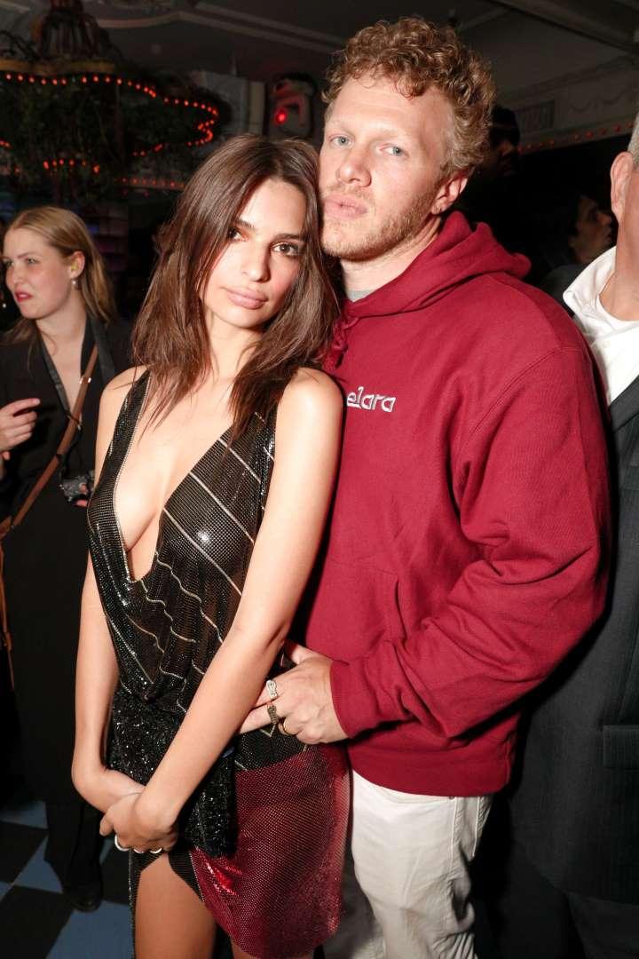 Sebastian Bear-McClard with his wife