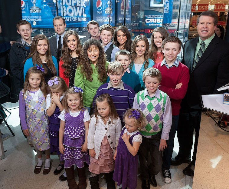 Josh Duggar with his family