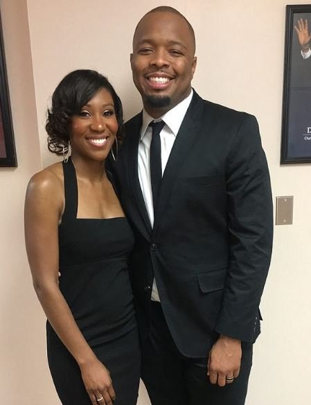 Kevin Fredericks with his wife
