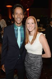 Danny Pudi with his wife