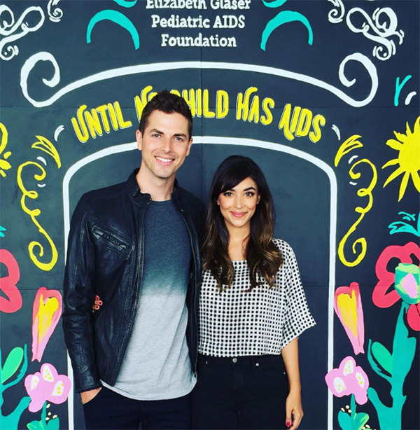 Hannah Simone with her husband
