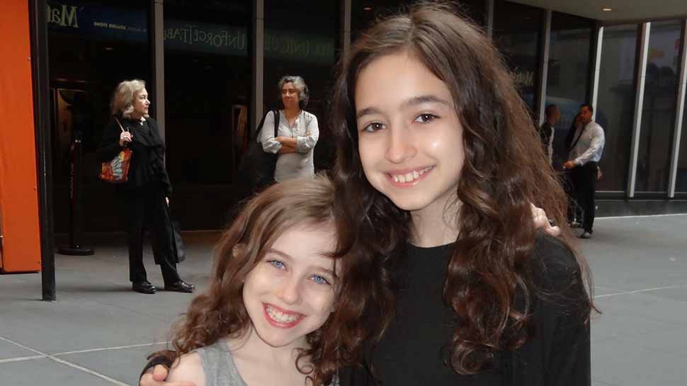 Tori Feinstein with her big sister