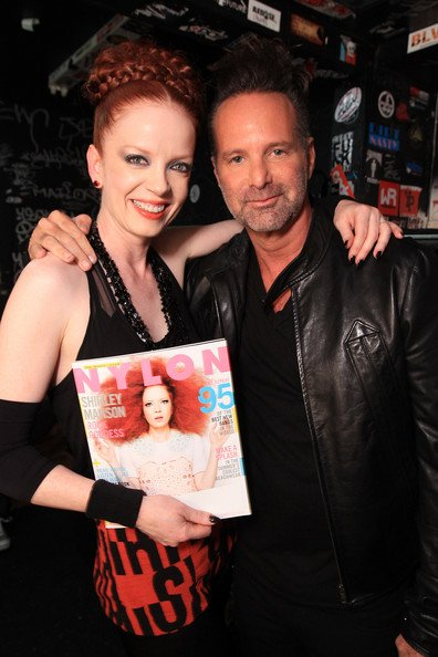 Shirley Manson with her beloved husband