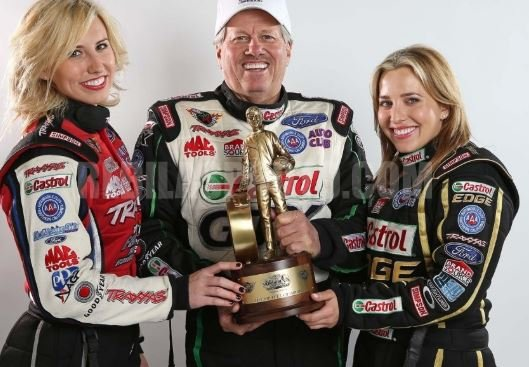 Courtney Force with her family