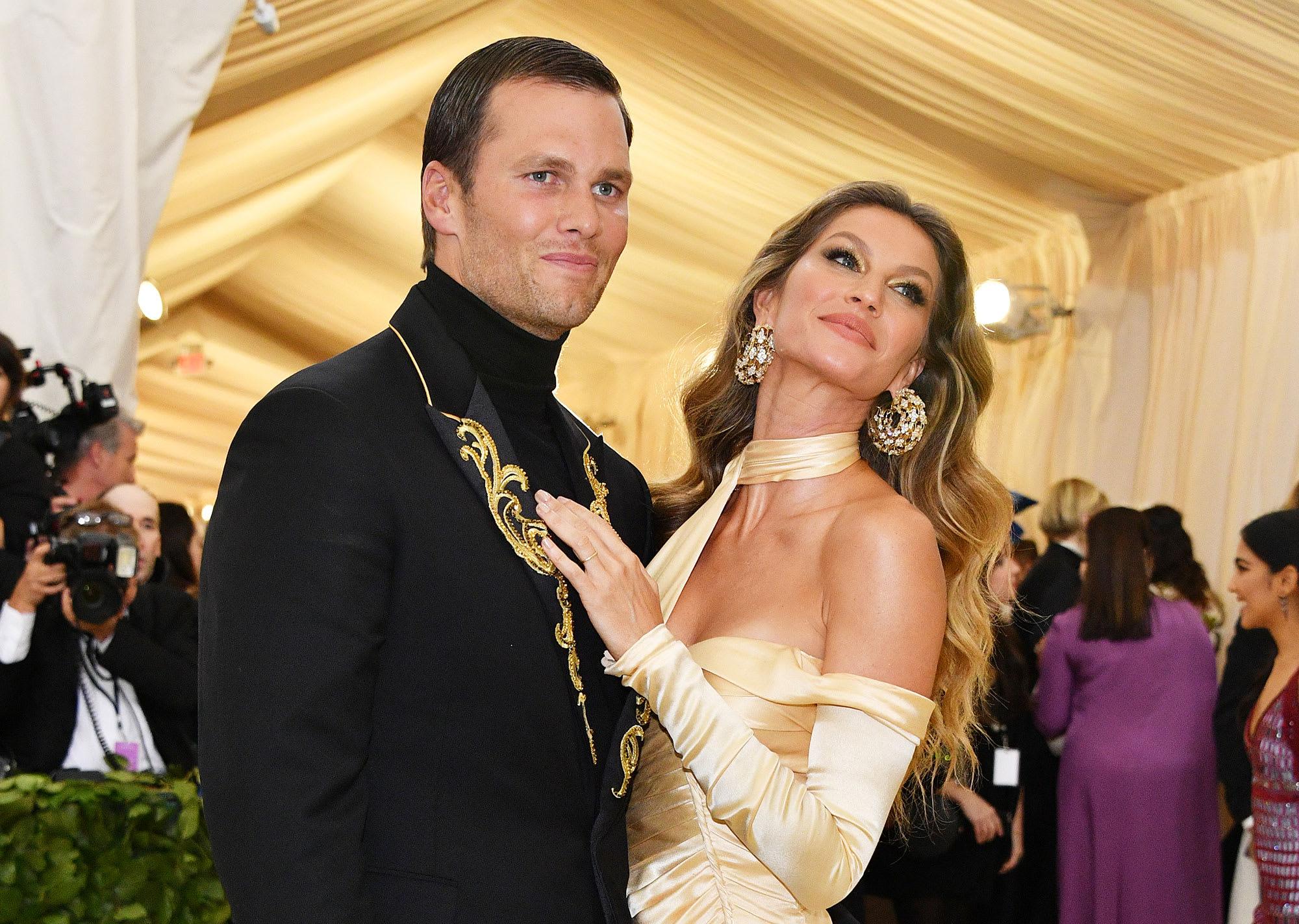 Tom Brady with his wife