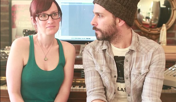 Ingrid Michaelson with her former husband